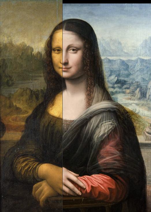Surge replica de la mona lisa pintada simultaneamente for La gioconda di leonardo da vinci